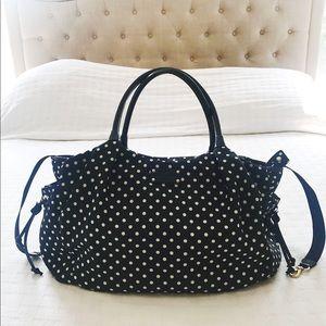 Kate Spade Stevie Diaper bag black polka dot